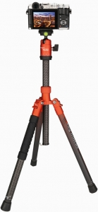 Rollei City Traveler Carbon Tripod, orange
